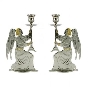Coppia candelieri in Ottone...