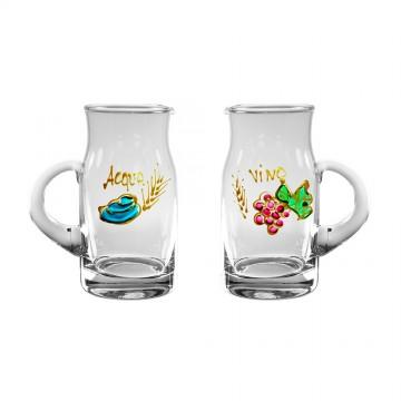 Ampolle Acqua e Vino Decorate