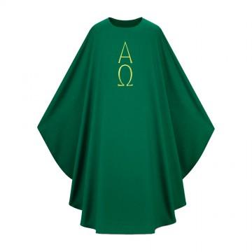 Casula Verde Ricamo Alfa e...