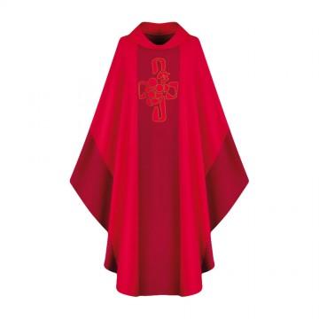 Casula Rossa Ricamo Croce e...