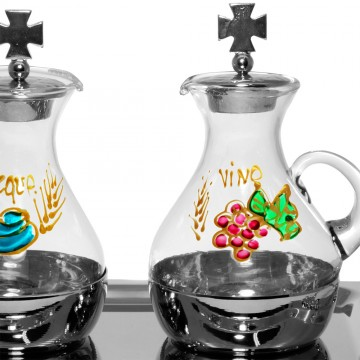 Coppia Ampolle Acqua e Vino...