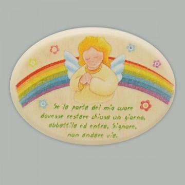 Magnete Legno Angelo di Dio