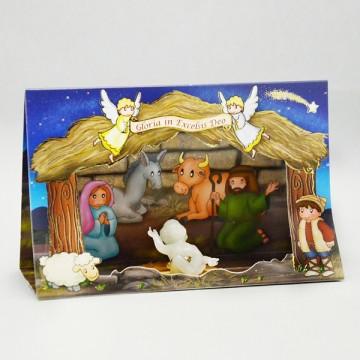 Presepe Cartoncino con Gesù...
