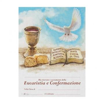 Pergamena Comunione e Cresima