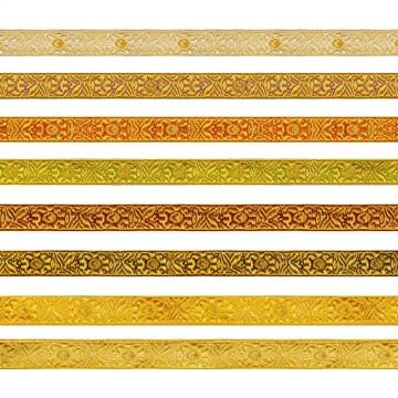 Bordo Fiore Oro/Colore cm 1,8