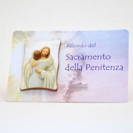 Quadrettino Prima Confessione con Card