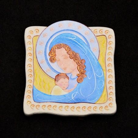Quadretto Madonna con Bambino Stilizzato