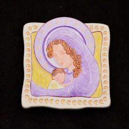 Calamita Quadretto Madonna con Bambino Stilizzato