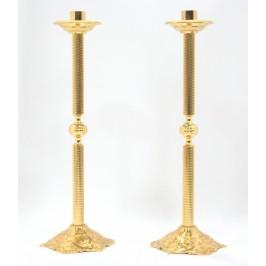 Coppia candelieri ottone