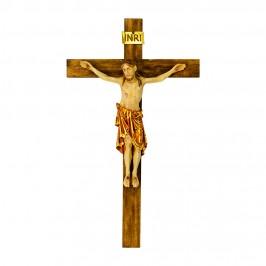 Croce con Cristo Romanico Legno Antico
