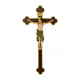 Crocifisso Barocco con Cristo Romanico