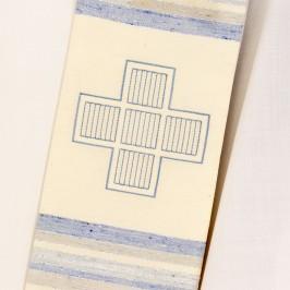 Stola Avorio Ricamo Croce Greca