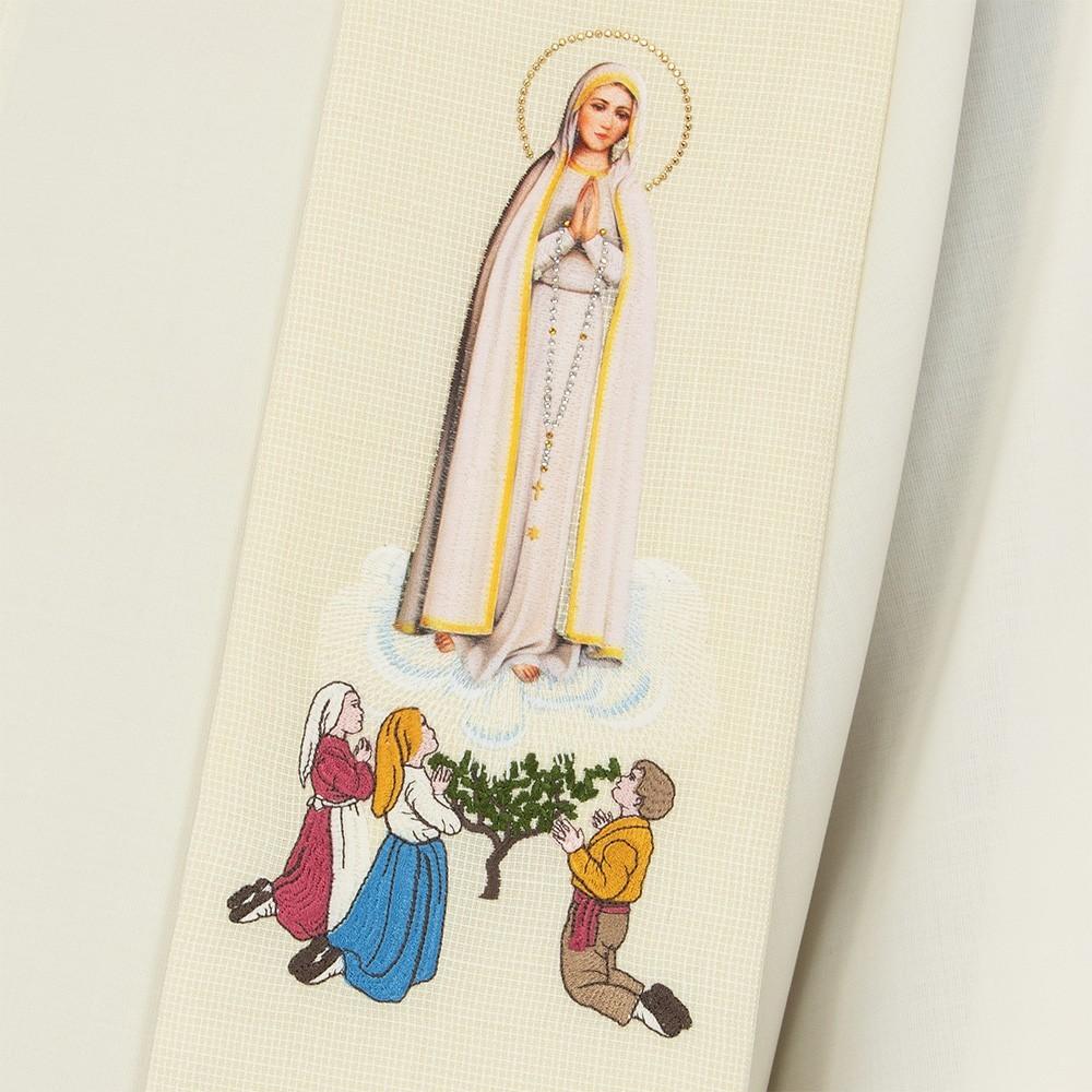 Stola con Ricamo Madonna di Fatima