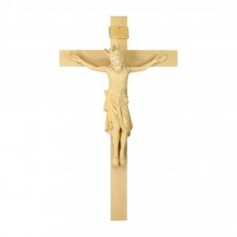 Cristo Romanico e Croce in Legno Brunito