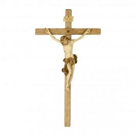 Cristo Barocco e Croce in Legno Brunito