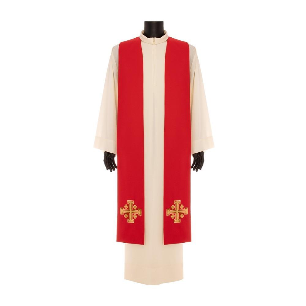 Stola Ricamo Croce di Gerusalemme