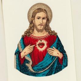 Stola Ricamo Sacro Cuore di Maria e di Gesù