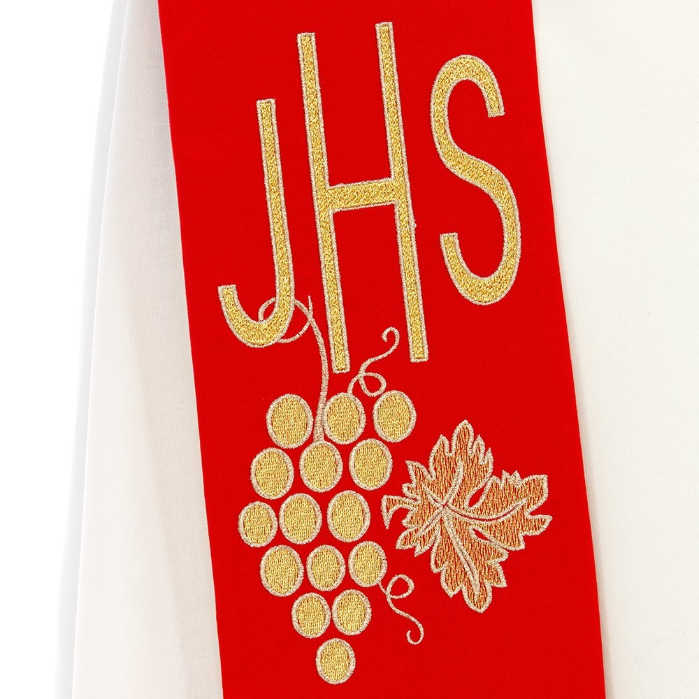 Stola Sacerdotale Ricamo JHS
