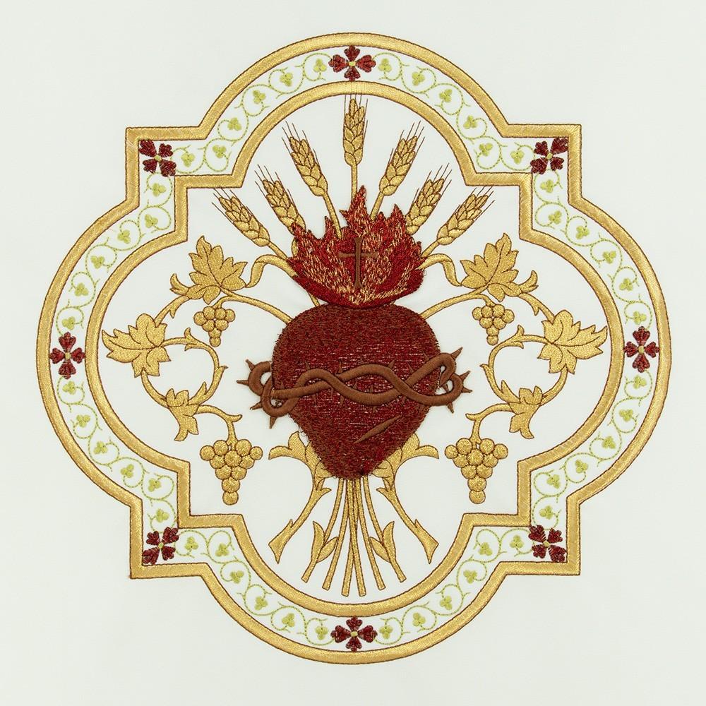 Coprileggio Ricamo Sacro Cuore di Gesù