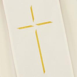 Tristola Sacerdotale Bicolore Avorio Rosso