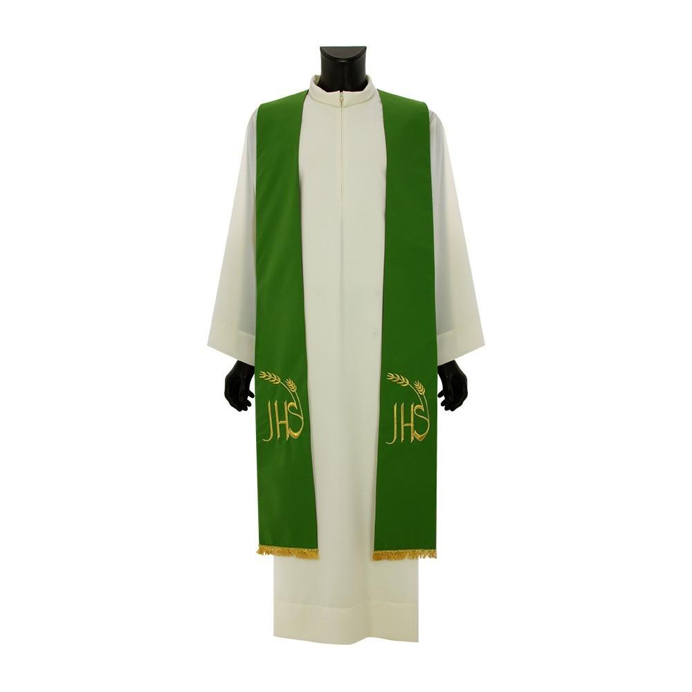 Tristola per Prete Bicolore Viola e Verde