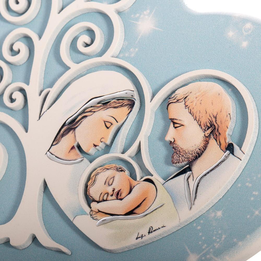 Quadretto Cuore con Sacra Famiglia