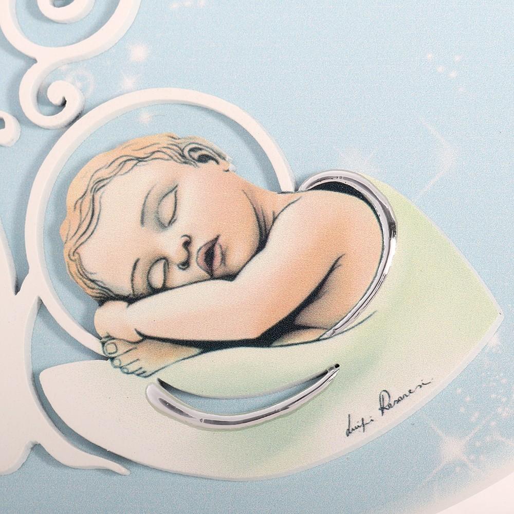 Quadro Cuore con Albero della Vita e Bambino