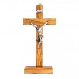 Croce Legno Chiaro con Base