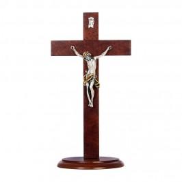 Croce in Legno con Base Ovale