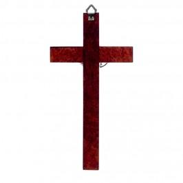 Croce in Legno e Cristo Bagno Argento
