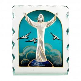 Gesù Risorto su Quadro in Vetro