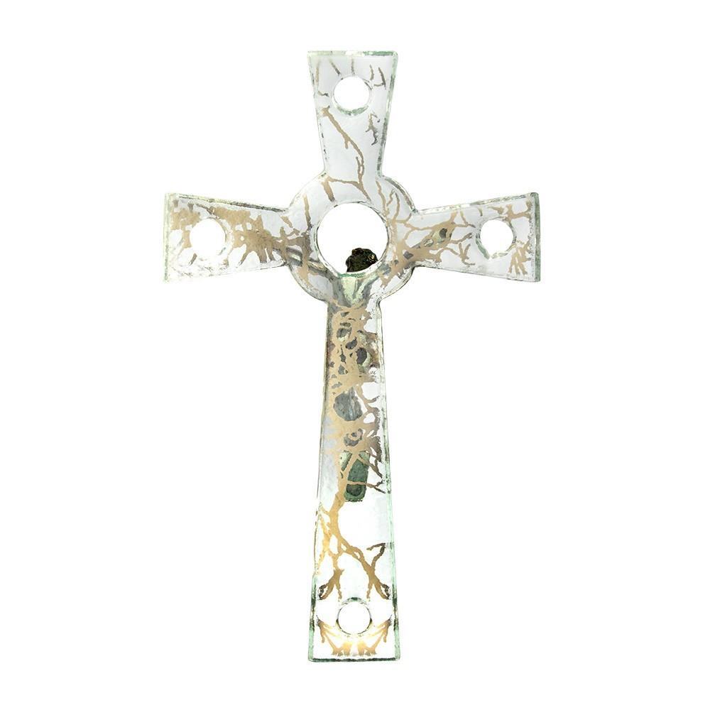 Croce Vetro Decorata