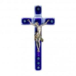 Croce in Vetro Murano Blu