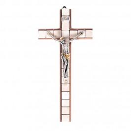 Crocifisso in Legno Tassellato con Pietre