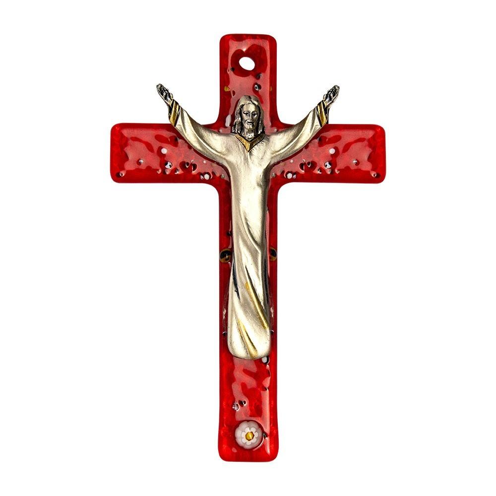 Croce in Vetro Rosso