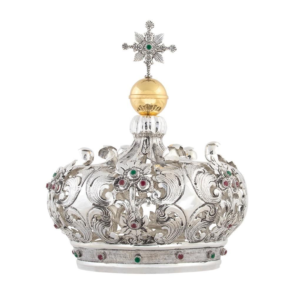 Corona in Argento per Statua