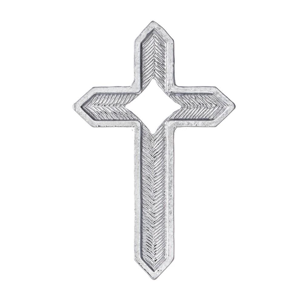 Croce in Argento con Spilla