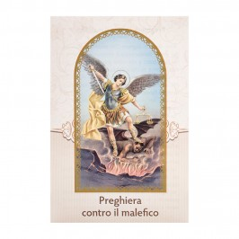 Cartoncino Preghiera Contro il Malefico