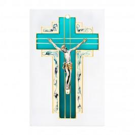 Croce Dipinta su Quadro in Vetro