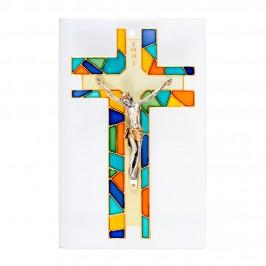 Croce Dipinta su Quadretto in Vetro
