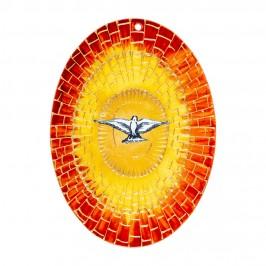 Quadro Ovale in Vetro Spirito Santo