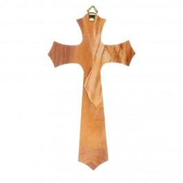 Croce Stilizzata in Legno d'Ulivo