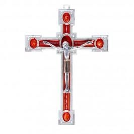 Crocifisso in Metallo e Cristo Argento