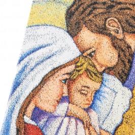 Quadretto Sacra Famiglia In Legno MDF