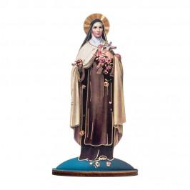 Statuetta Legno Santa Teresa con Biografia