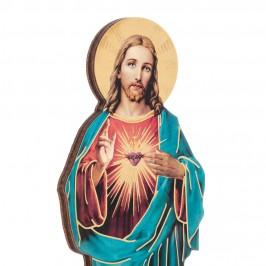 Statuetta Legno Sacro Cuore di Gesù