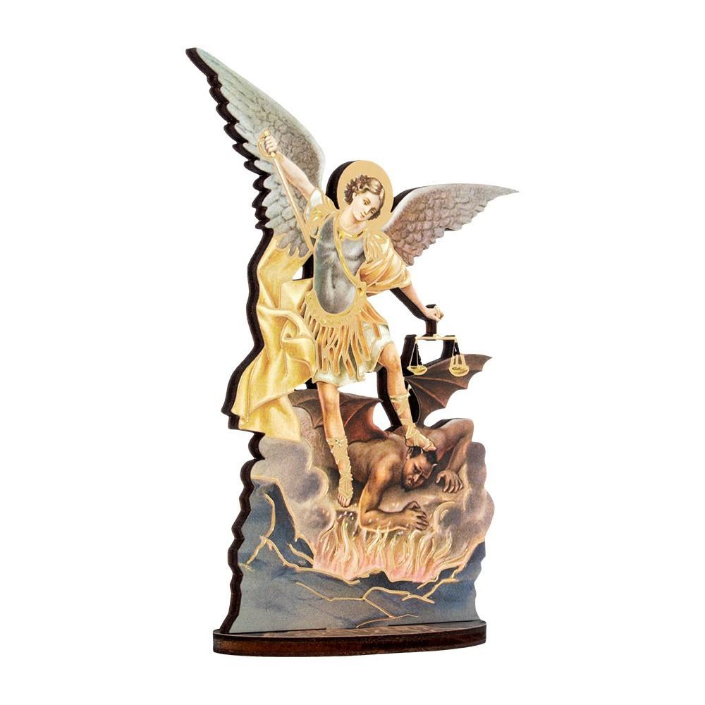 Statua San Michele Arcangelo con Biografia