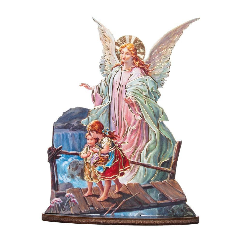 Statuetta Angelo Custode con Base