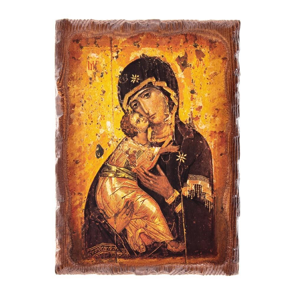 Quadretto Legno Madonna della Tenerezza