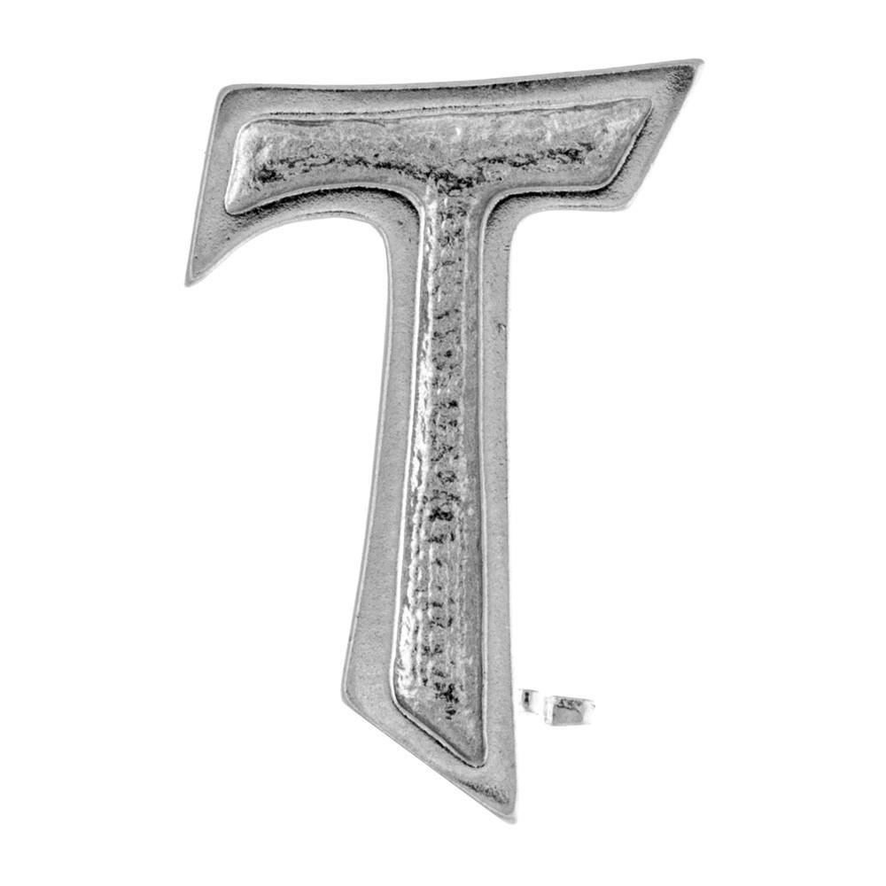 Croce Tau Clergyman in Argento